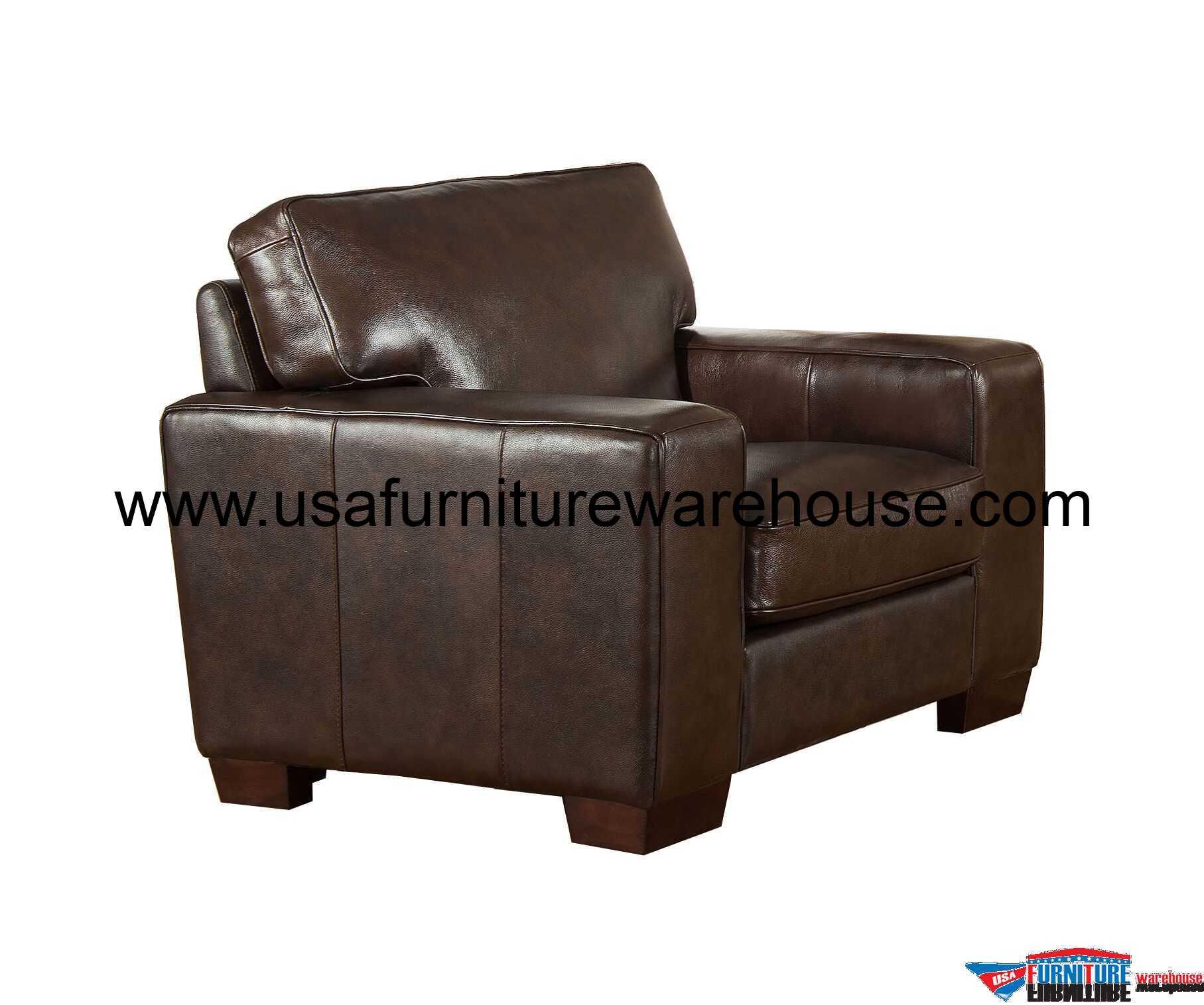Kimberlly Full Top Grain Dark Brown Leather Chair