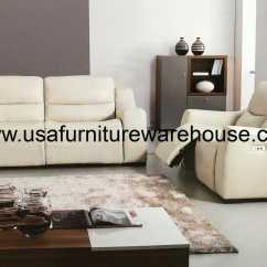 Italian Leather Recliner Sofa Set How To Make Bed Cover 2 Piece Avana Full Power