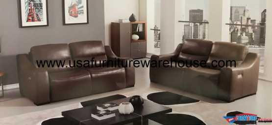 Avana Taupe Leather Power Recliner Sofa Set
