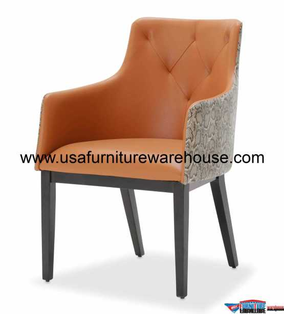 Aico 21 Cosmopolitan Orange Tufted Arm Chair