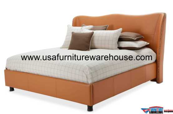 Aico 21 Cosmopolitan Orange Wing Bed