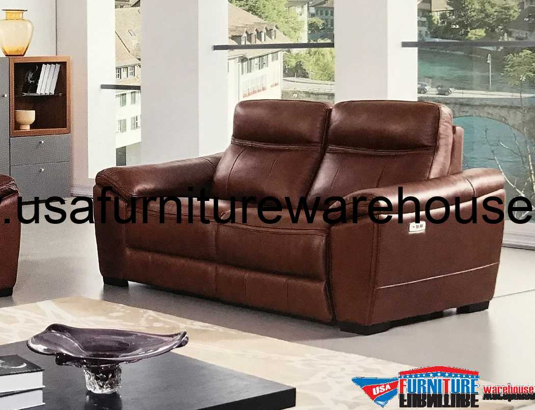 reclining sofa leather brown cama plegable multiposiciones 4 en 1 forma full italian power recliner loveseat