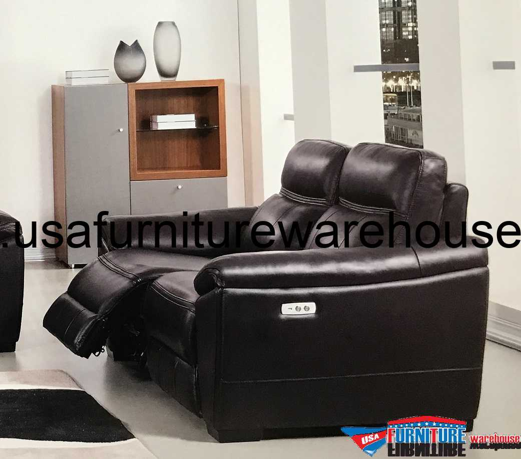reclining sofa leather brown l shaped sectional forma full italian dark power recliner loveseat