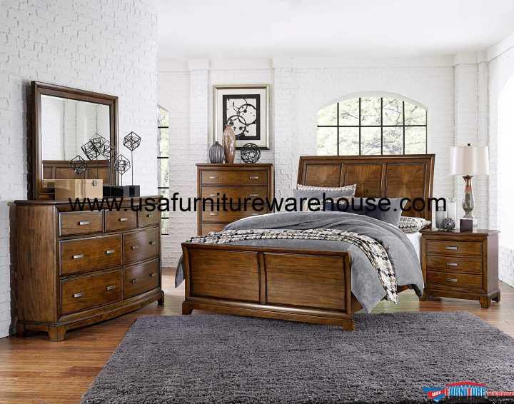 Terron Sleigh Bedroom Set