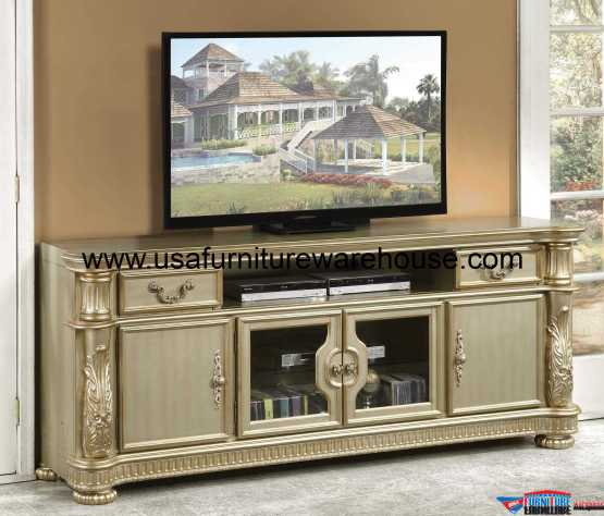 Vendome Patina Bone TV Stand