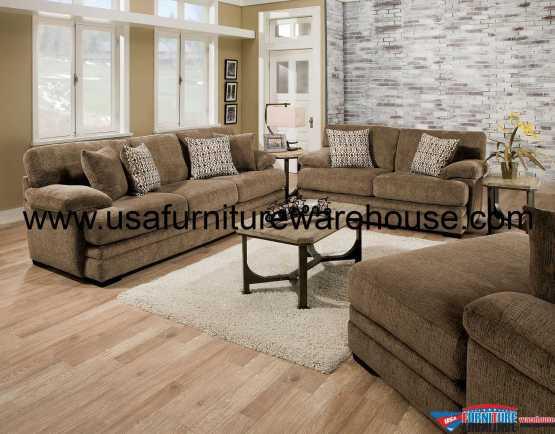 Abrianna Brown Sofa Set