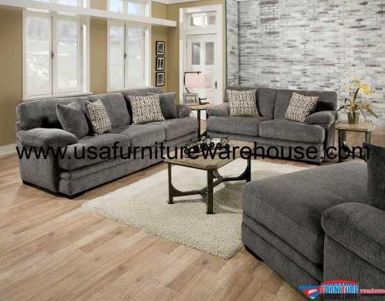 Abrianna Gray Sofa Set