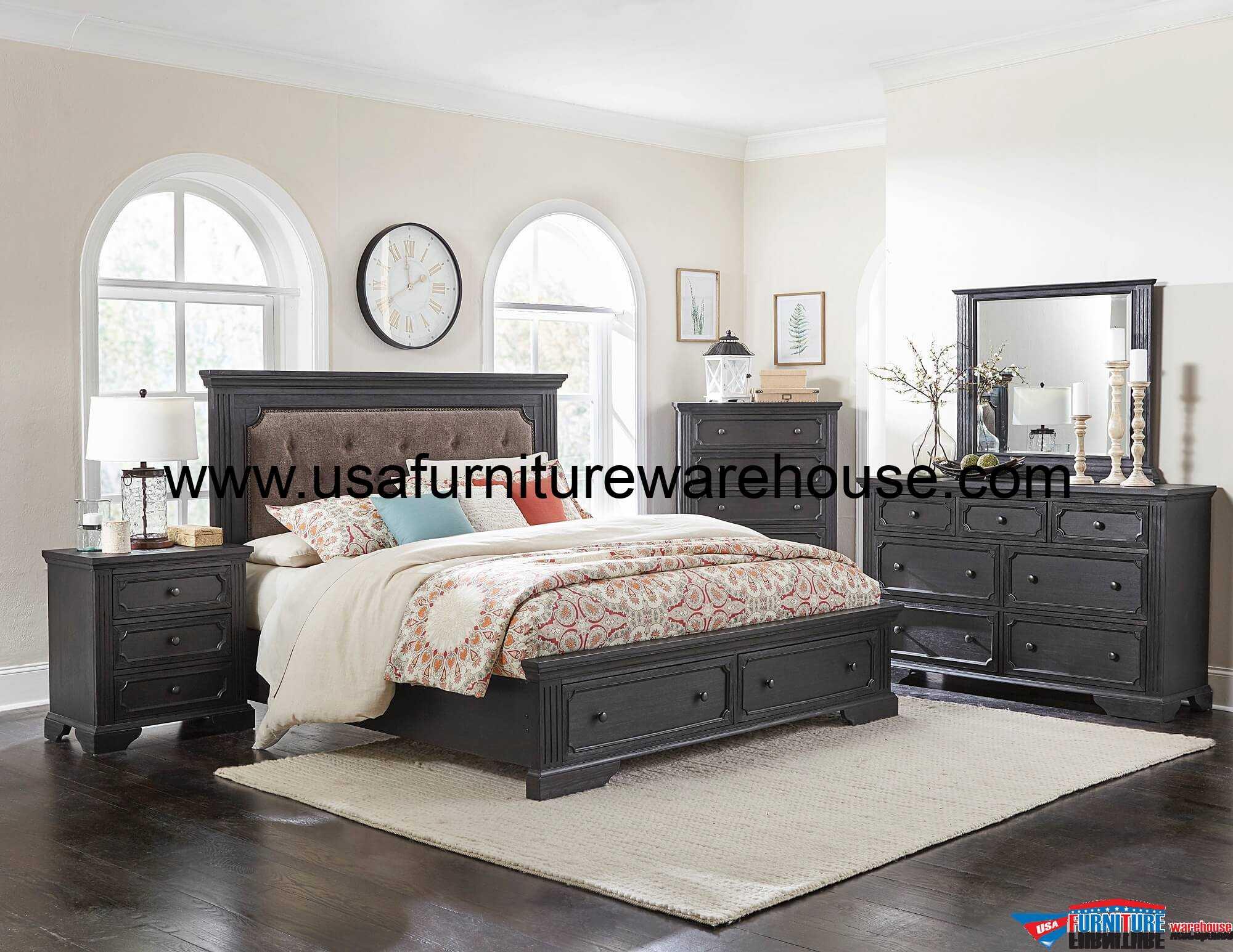 4 Piece Bolingbrook Storage Bedroom Set - USA Furniture ...