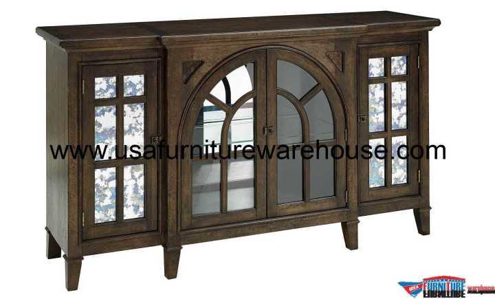 4 Door Mercury Glass Buffet