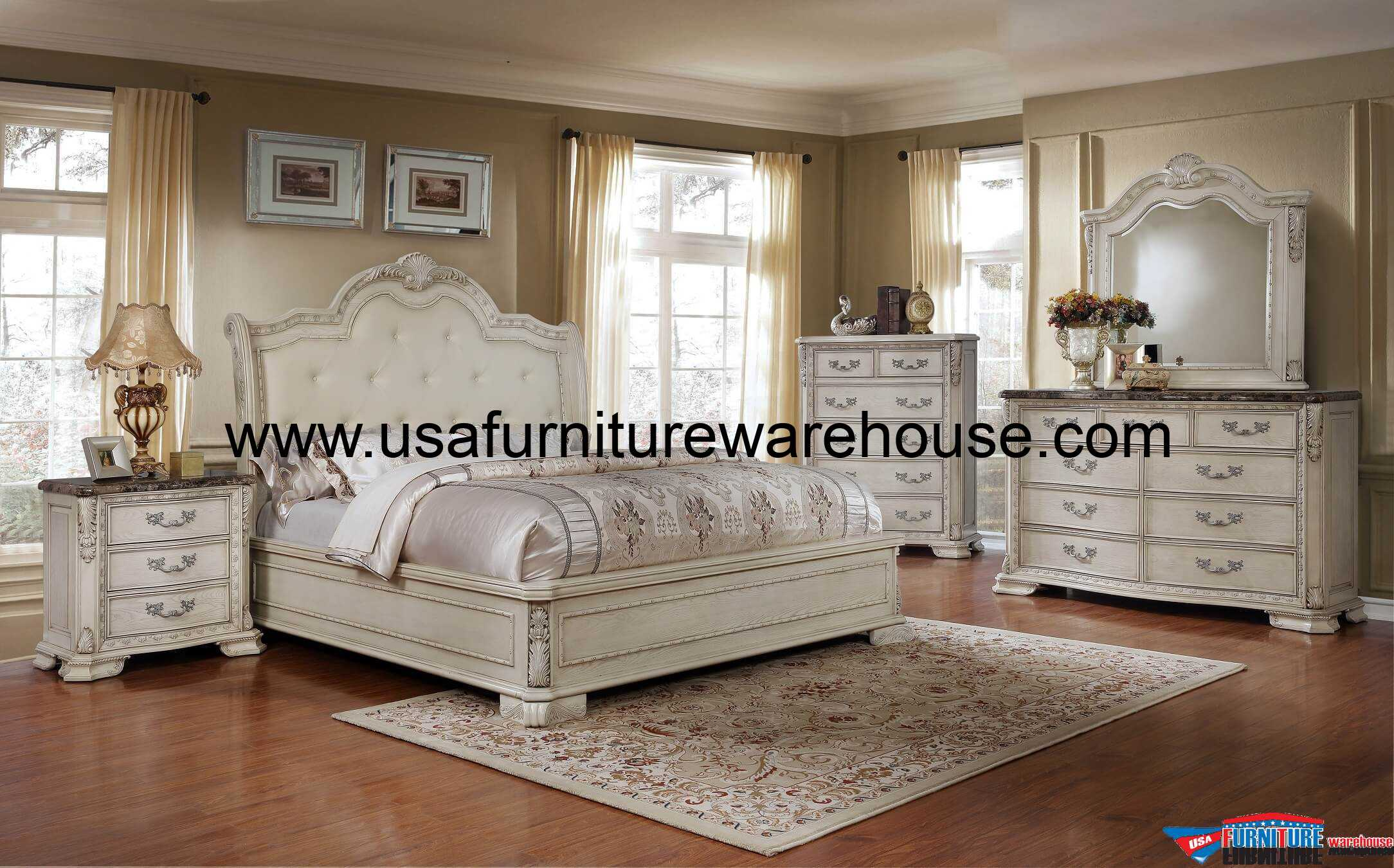 Florence 3 Drawer Nightstand With Marble Top