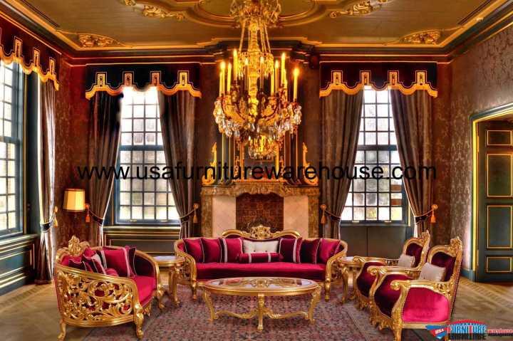 Bellagio II Gold Sofa Set