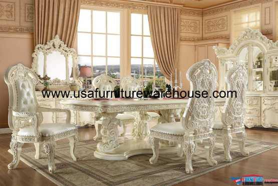 9 Piece Homey Design HD-8089 Dining Set
