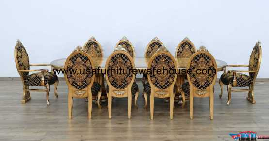 11 Pieces European Furniture Emperador Dining Set
