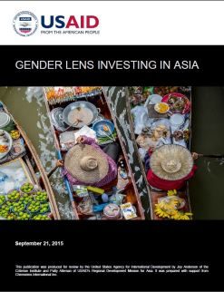 Image result for usaid state of the field of gender lens asia