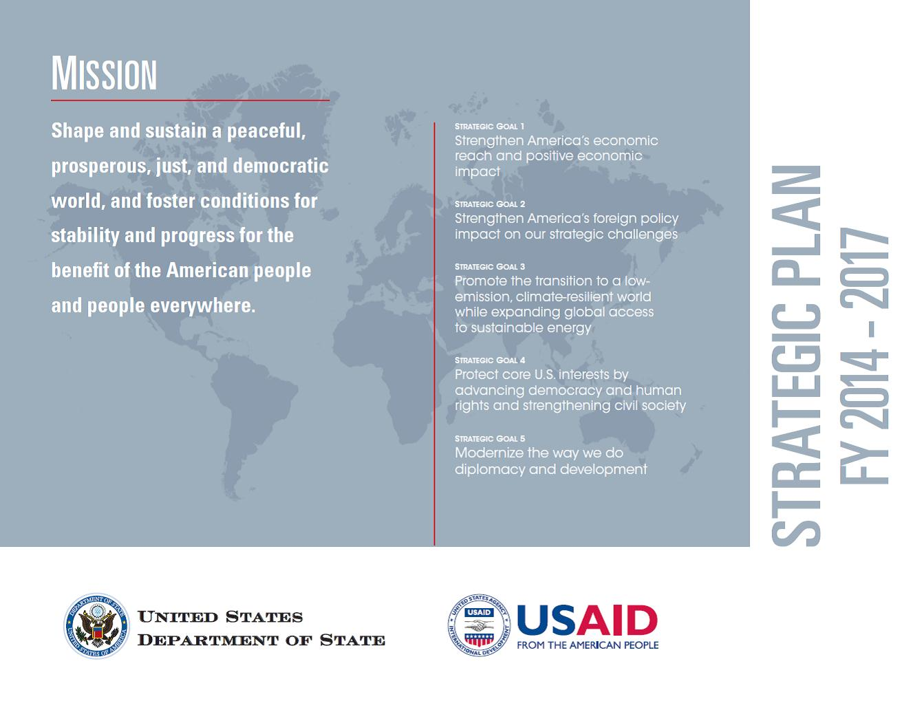 USAID and Department of State Strategic Plan  US Agency