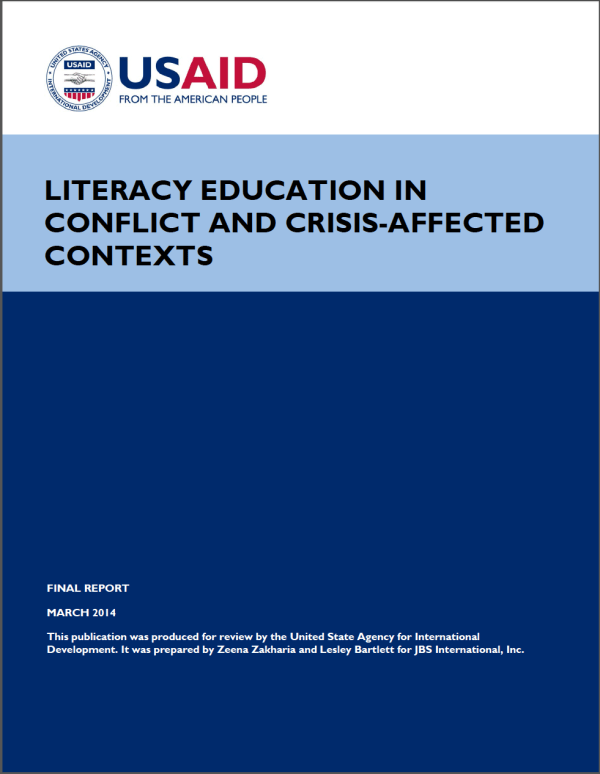 Literacy Education In Conflict And Crisis-affected