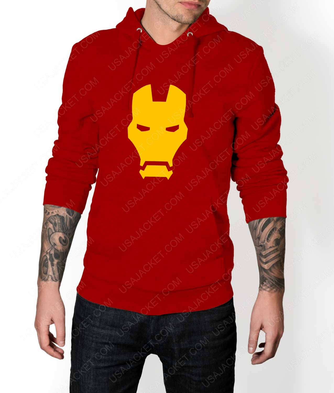 Iron Man Face Logo Pullover Hoodie
