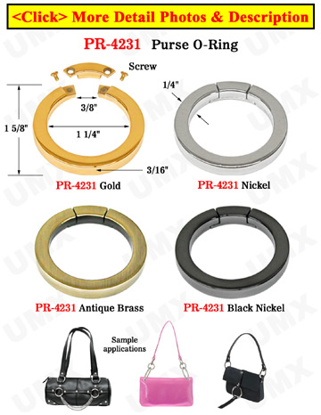 Secured Gate Rings: For Purse Straps, Keychain Straps, Key