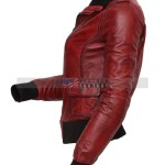 Designer Waxed Women Motorbike Leather Jacket Sale