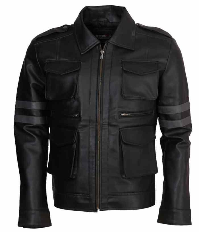 Leon Kennedy Resident Evil-6 Black Leather Jacket