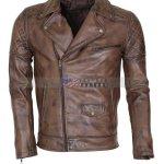 Mens-Brown-Vintage-Designer-Brando-Leather-Jacket-Perfect-Gift-