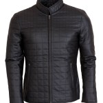 Quilted Brown Men's Fashion Leather Jacket