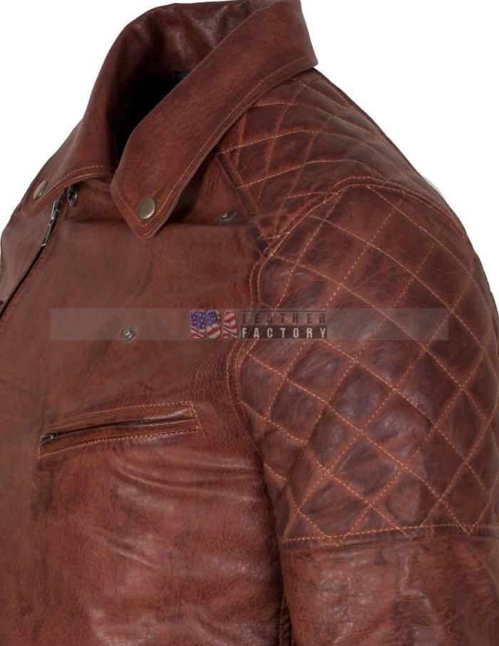 Brown Motorcycle Leather Jacket