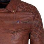 Designers Men Brando Brown Motorcycle Leather Jacket Sale online Free Shipping USA