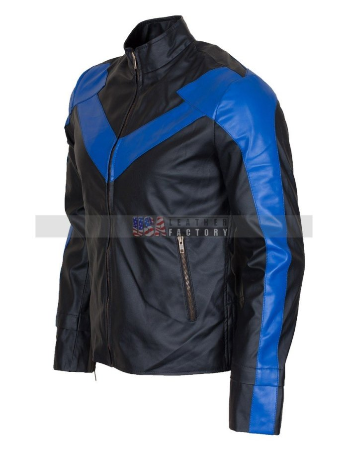 Dick Grayson Nightwing Leather Jacket Online Sale Free Shipping