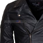 Men Brando Styled Black Biker Leather Jacket onlie
