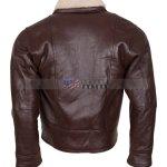 Men Choco Brown B3 Bomber Leather Jacket