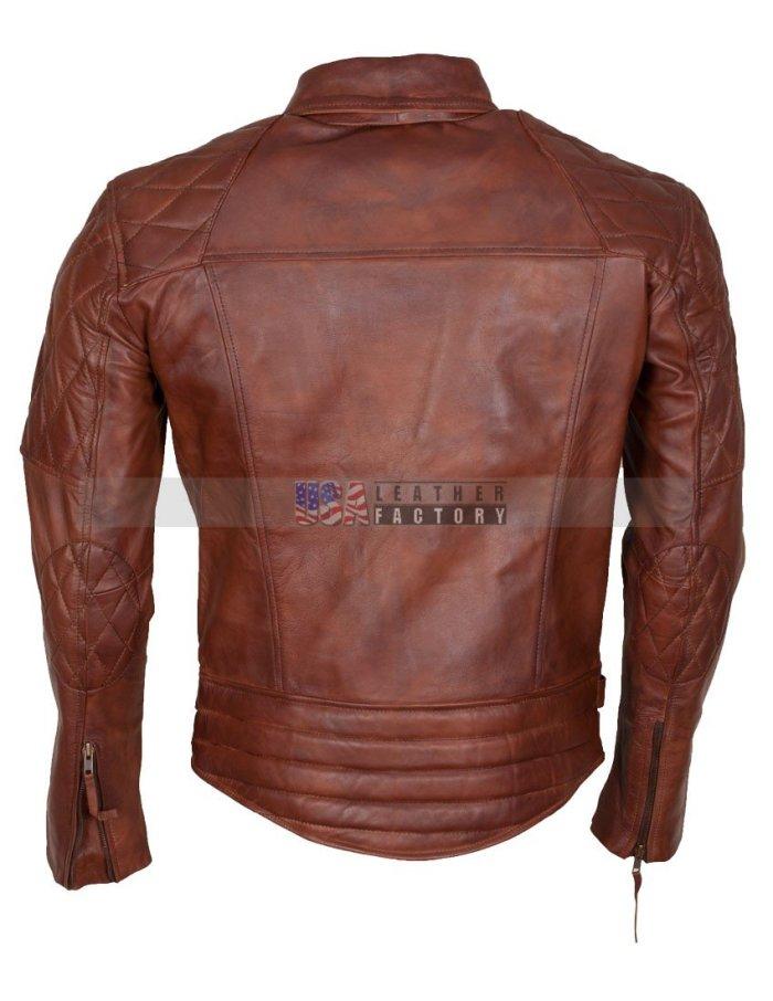 Diamond Motorcycle Leather Jacket