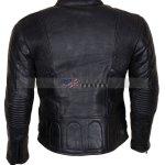 Mens Real Cowhide Black Leather Jacket Sale