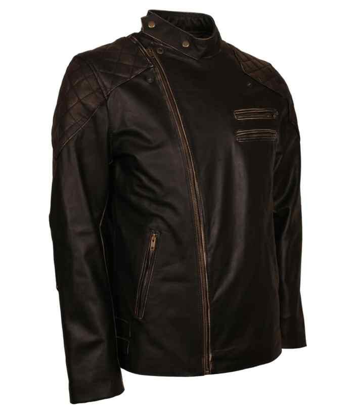 Vintage Skull Leather Jacket