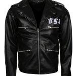 BSA Tribute to George Michael Mens Biker Leather Jacket USA