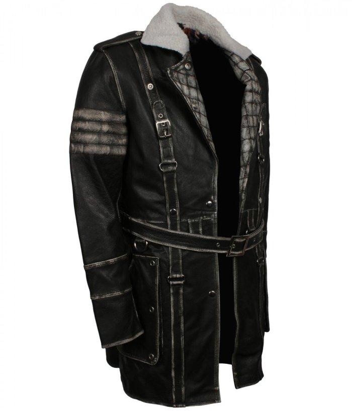 Fallout grey distressed coat