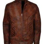 Brown Distressed Iconic Vintage Leather Jacket Sale