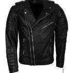 Double Zipper Biker Brondo Leather Jacket