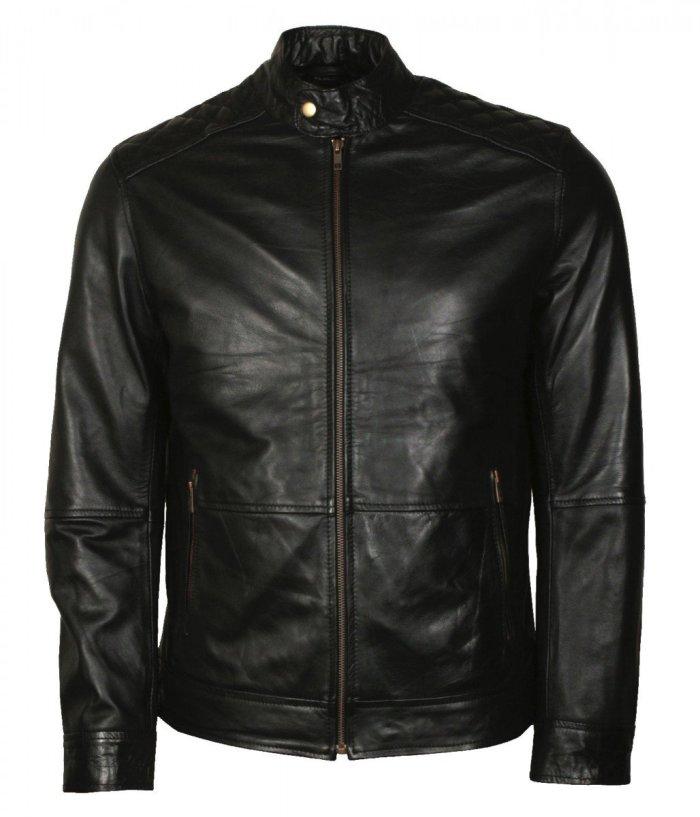 American Skull Man Black Motorcycle Leather Jacket