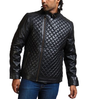 Diamond Quilted Black Men Fashion Jacket