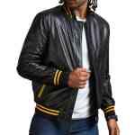 Juda Priest Printed Black Real Leather Jacket