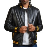 Juda Priest Printed Black Real Leather Jackets