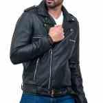 Negan Real Cowhide Motorcycle Leather Jacket Sale