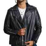 Mens Black Boda Biker Leather Jacket Sale