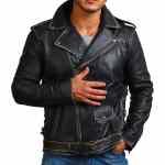 Sword Skull Black Brando Distressed Jacket Sale