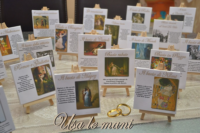 Matrimonio a tema lamore nellarte  Wedding theme Love