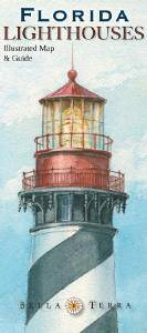 Florida Lighthouse Map  Illustrated guide map to Florida