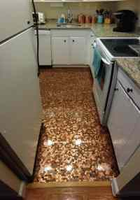 How To Install A Copper Penny Floor