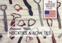 American Made Neckties & Bow Ties: An Ultimate Source List ...