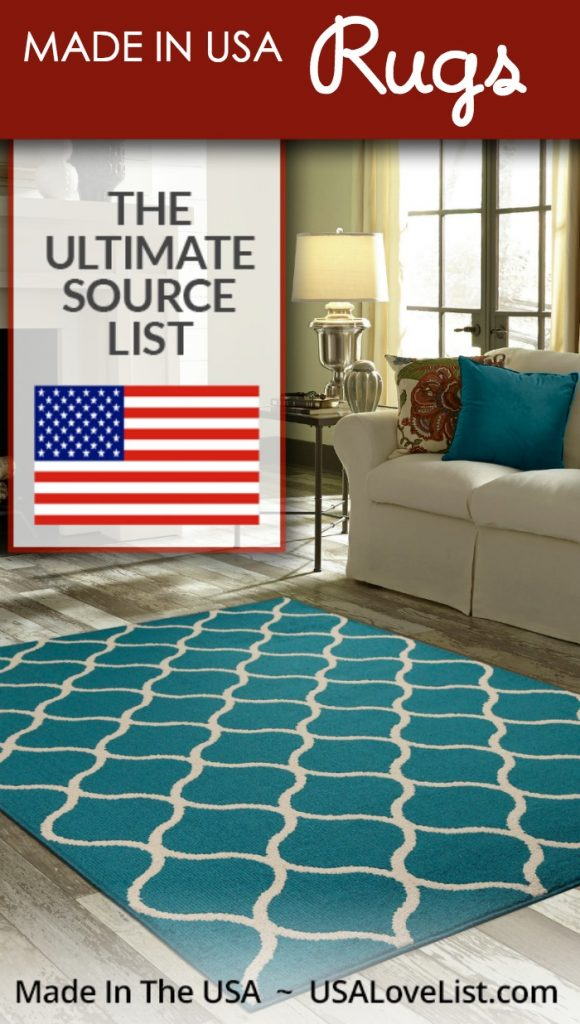 Made in USA Area Rugs Decor Rugs Floor Mats Carpeting An Ultimate Source List  USA Love List